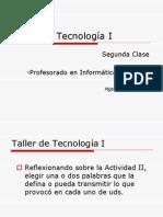 Taller Tecnologia ClaseII 2014
