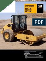 Catalogo Rodillo Compactador Cs533e Cp533e Caterpillar