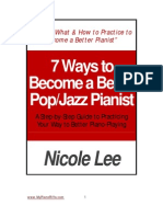 Steps to Become Better at Pop Piano