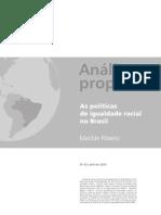 A Politica de Igualdade Racial No Brasil
