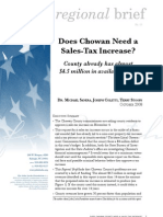 Does Chowan need a sales tax increase?