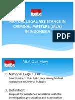 MLA Mechanism in Indonesia