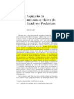 SAES_ a Questao Da Autonomia Relativa
