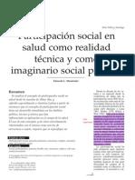 Menendez Participacion Social en Salud