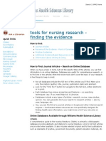 Tools for Nursing Research & EBP