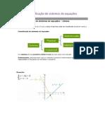 Classificação de Sistemas de Equações