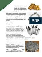 Tipos de Metales