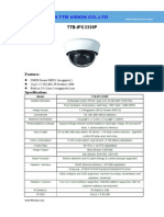 IP Camera TTB IPC3339P Specification-ttb Vision Co.,Ltd-www.ttbvision.com