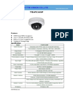 IP Camera TTB IPC3439P Specification-ttb Vision Co.,Ltd-www.ttbvision.com