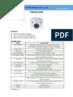 IP Camera TTB IPC3539P Specification-ttb Vision Co.,Ltd-www.ttbvision.com