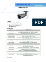 IP Camera TTB IPC62310P Specification-ttb Vision Co.,Ltd-www.ttbvision.com