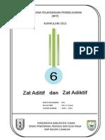RPP KURIKULUM 2013 SMP  IPA KELAS 8 SEMESTER 1   Bab6-Zat Aditif dan Adiktif