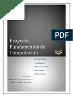 Proyecto Fundamentos de Computación