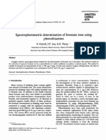 Analytica Chimica Acta Volume 313 Issue 1-2 1995 [Doi 10.1016_0003-2670(95)00250-4] S. Farrell; J.F. Joa; G.E. Pacey -- Spectrophotometric Determination of Bromate Ions Using Phenothiazines