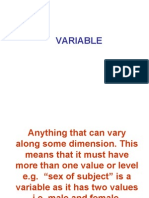 Anything That Can Vary Along Some Dimension. This Means That