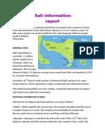 Bali Information Report.