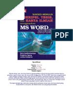 Sukses Menulis Skripsi Dgn Word 2003