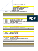 2014-2015 Falcon Gymnastics Calendar Edit
