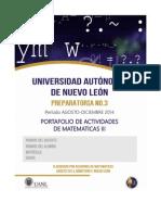 Portafolio de Actividades Matematicas III.