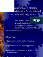 Optimization of a Floating Platform Mooring System Based on Genetic Algorithm