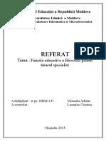 Rolul Educativ Al Filosofiei Pentru Tinarul Specialist