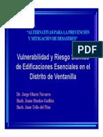 Vulnerabilidad y Riesgo Sísmico de Edificaciones Esenciales en El Distrito de Ventanilla