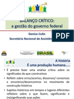A Gestao Do Governo Federal-1ª Mesa Denise Colin