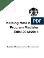 Katalog Magister Dan Profesi 2013 2014