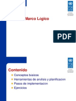 Marco Logico 2012-2