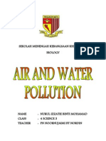 Folio Biology Air and Water Pollution (Endangered Ecosystem)