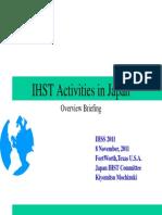 IHST Activities in Japan IHSS2011.8 Nov 2012-1