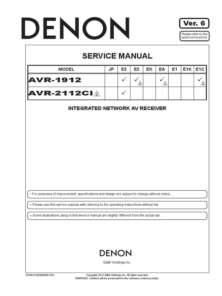 Denon AVR-1912 | Electrical Connector | Insulator (Electricity)