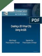 Creating a 3d Virtual City Using Arcgis