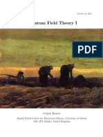 Introduction to quantum field theory, based on the book by Peskin and Schroeder