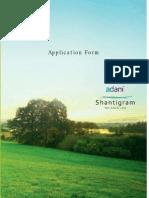 Shantigram Meadows Application form