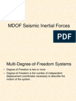 10 CE225 MDOF Seismic Inertial Forces