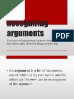 Recognizing Arguments