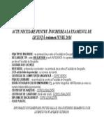 Acte Necesare Inscriere Licenta Februarie 2014 (1)