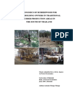 Thesis ECONOMICS OF RUBBERWOOD FOR SMALLHOLDING OWNERS IN TRADITIONAL RUBBER PRODUCTION AREAS IN THE SOUTH OF THAILANDRubber Adrian