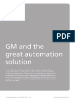 General Motors and the great automation solution