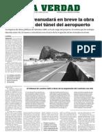 160909 La Verdad- El Gobierno reanudara en breve la obra del túnel del aeropuerto p. 6