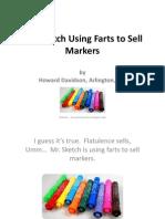 Howard Davidson Arlington Massachusetts - Mr. Sketch Using Farts to Sell Markers