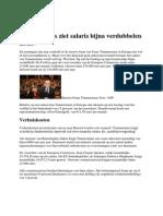 Timmermans Ziet Salaris Bijna Verdubbelen Wo 10 Sep 2014