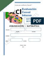 Evaluacion Censal Interna Sexto - Primaria