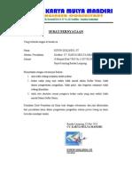 example surat pernyataaan