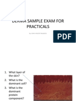 Derma Sample Exam for Practicals (Skin and Lesions)