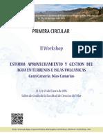 """II Workshop """"Estudio, aprovechamiento y gestión del agua en terrenos e islas volcánicas"""""""
