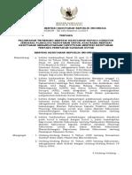 Keputusan Menteri Kehutanan Nomor SK/220/Menhut-II/2014 tentang Pelimpahan Wewenang Menteri Kehutanan kepada Direktur Jenderal Planologi Kehutanan untuk Atas Nama Menteri Kehutanan Menandatangani Keputusan Menteri Kehutanan tentang Penetapan Kawasan Hutan