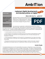 How to... Implement digital developments and develop policies on digital