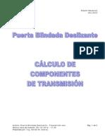 Puerta Blindada Deslizante - Transmisión